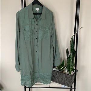 Tops - CALSON XL tunic top green